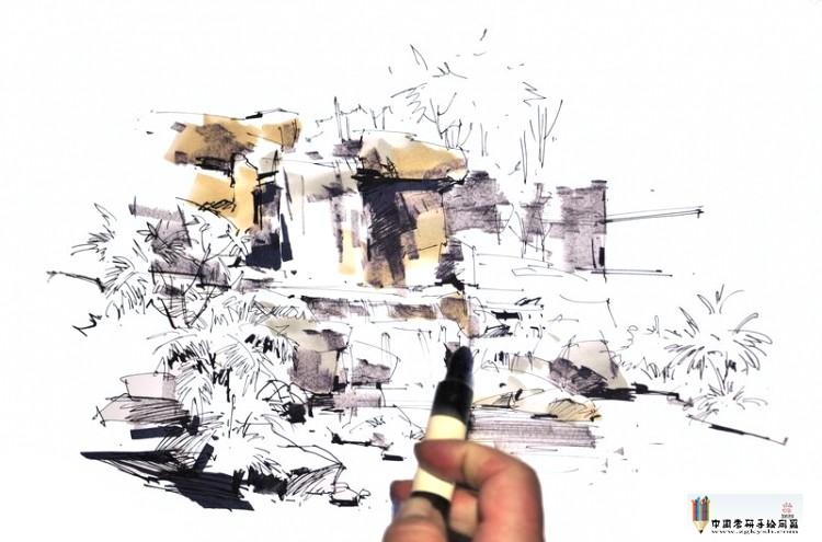 沙沛景观手绘作品欣赏