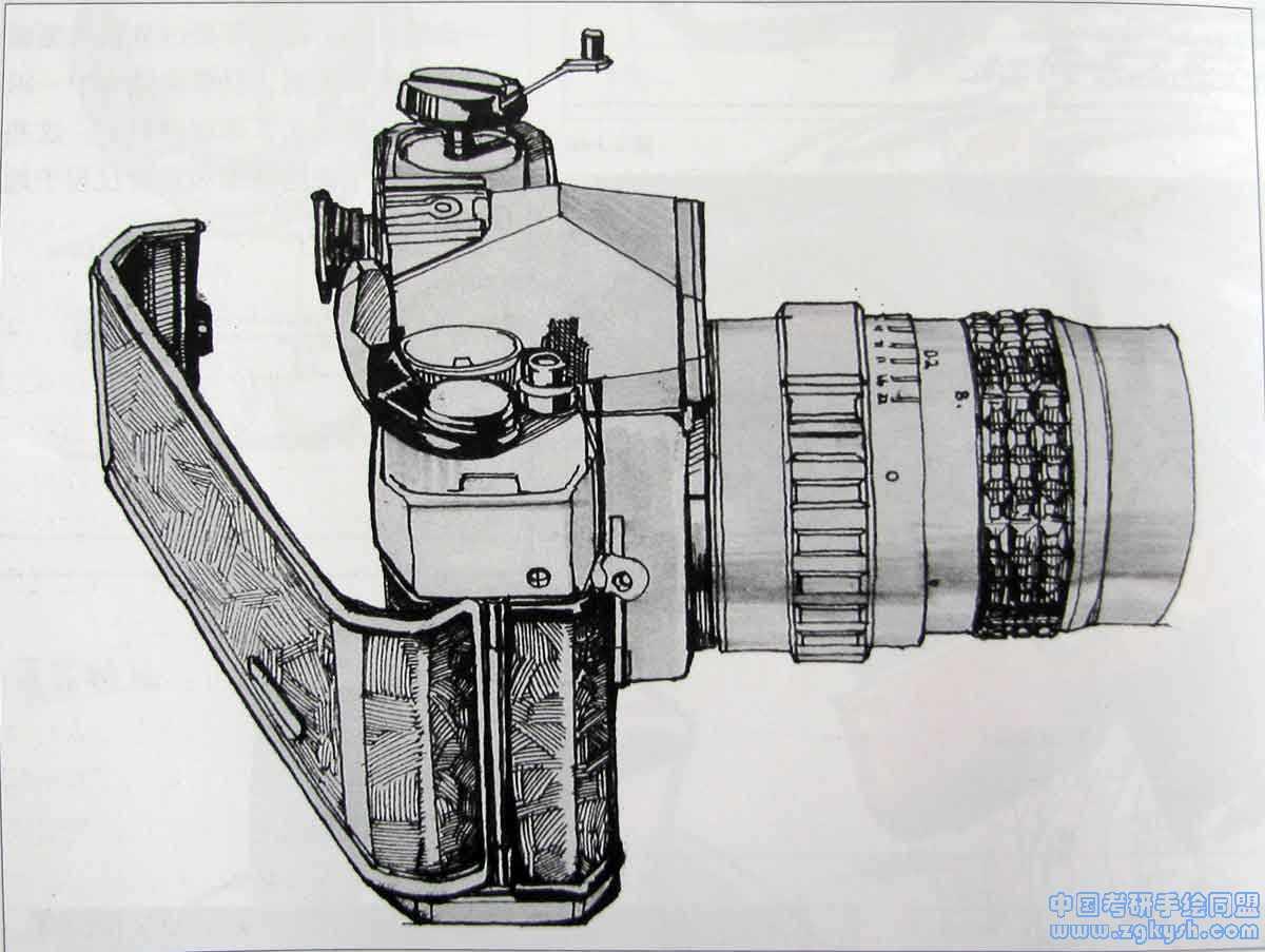 照相机设计手绘效果图