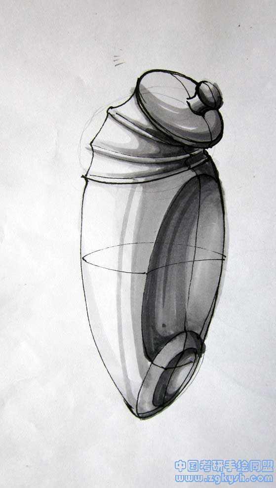 水壶设计手绘效果图