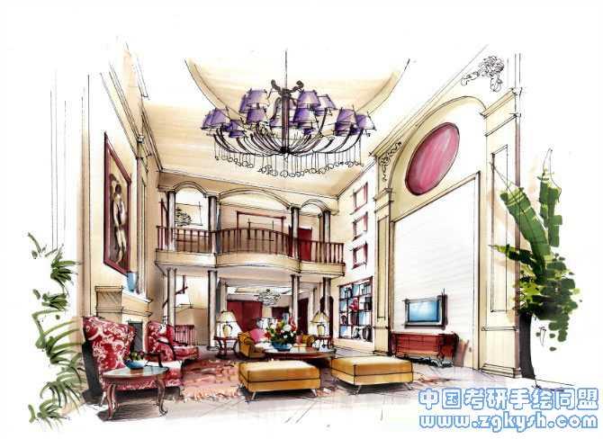 室内快题设计卧室手绘