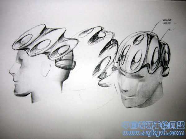 安全帽头盔设计手绘效果图产品设计手绘,安全帽头盔设计,手