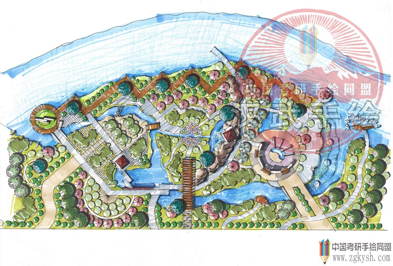 绿化平面设计图手绘