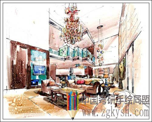 高文安室内设计手绘作品欣赏室内设计