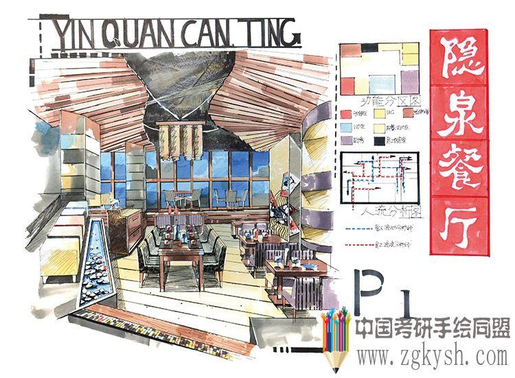 室内手绘快题考研手绘快题中国考研手绘