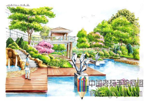蝶恋花公园手绘快题设计