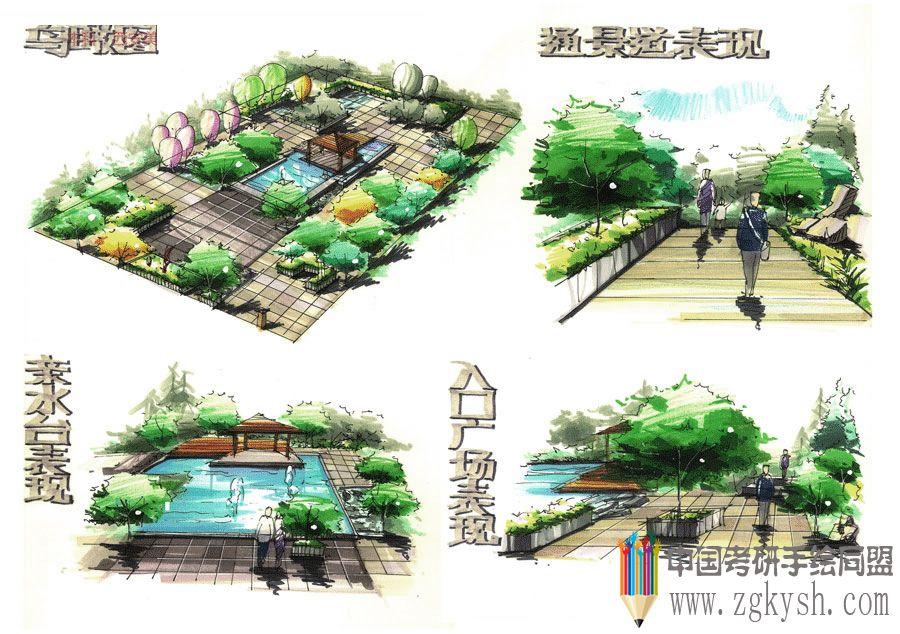 公园景观设计快题表现景观设计