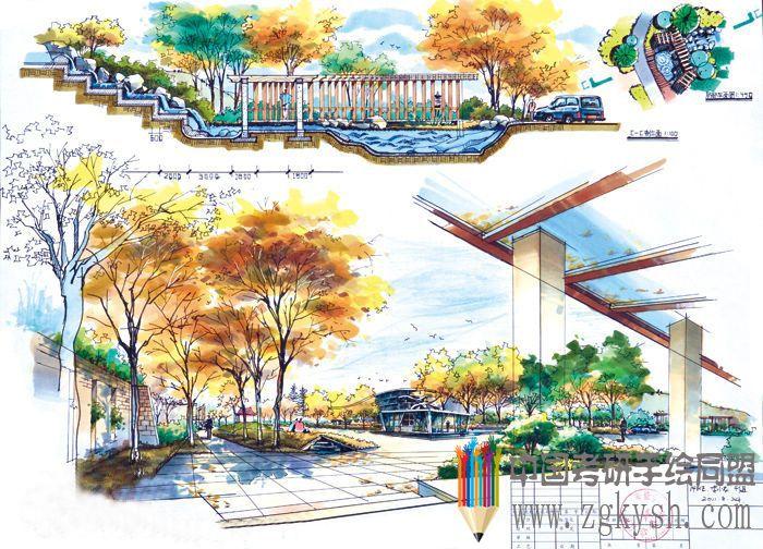道展校园广场设计快题表现