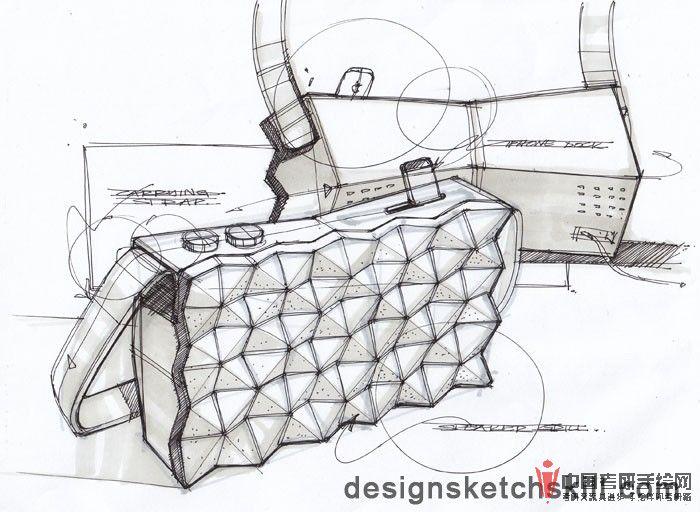 包类产品设计手绘图