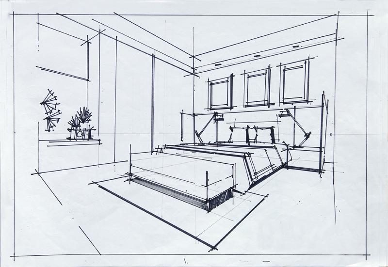 室内手绘线稿手绘效果图