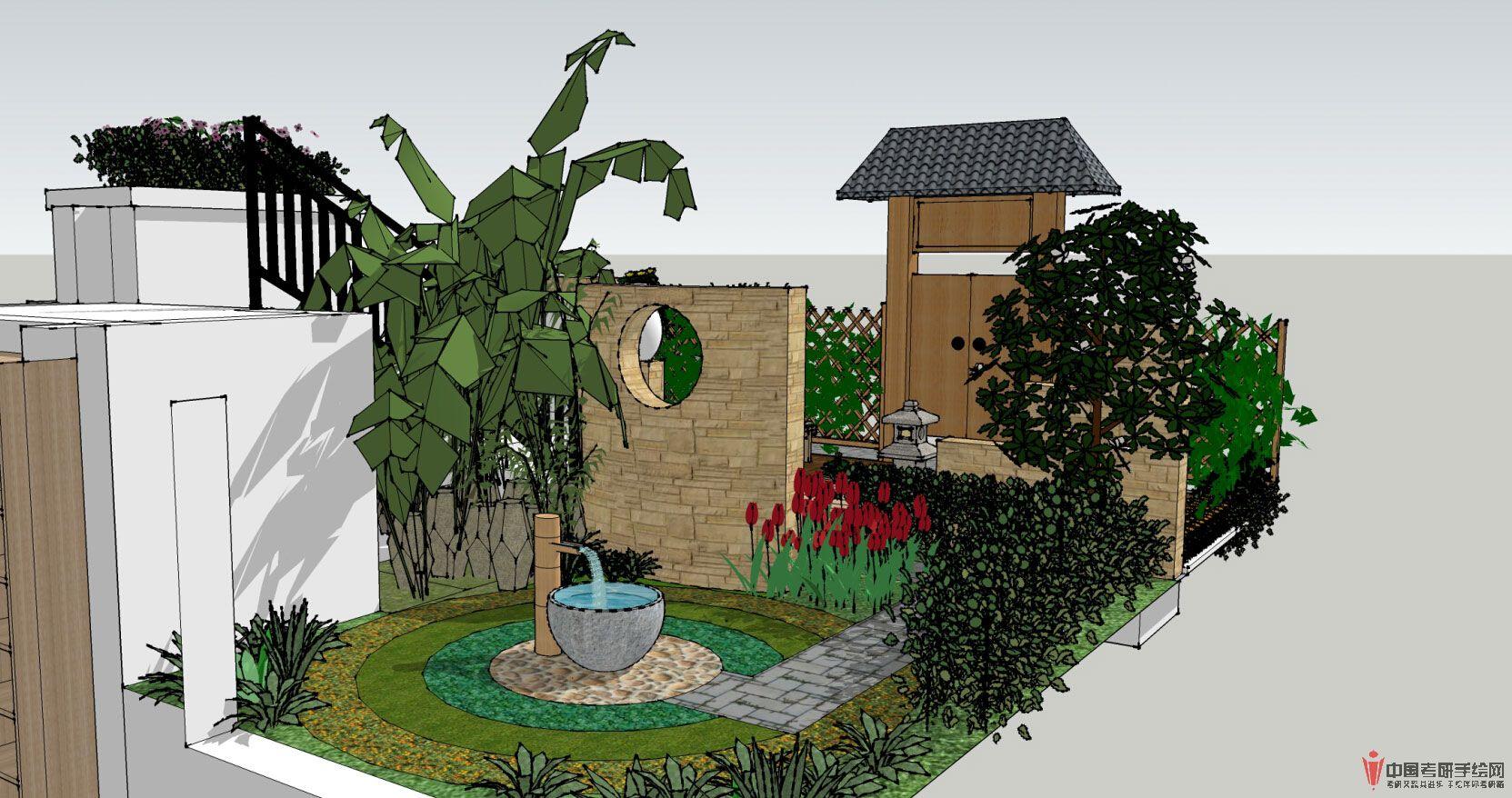 小别墅庭院景观设计方案别墅庭院