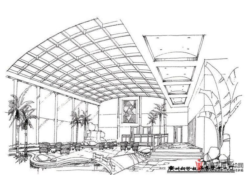 室内设计线稿手绘效果图