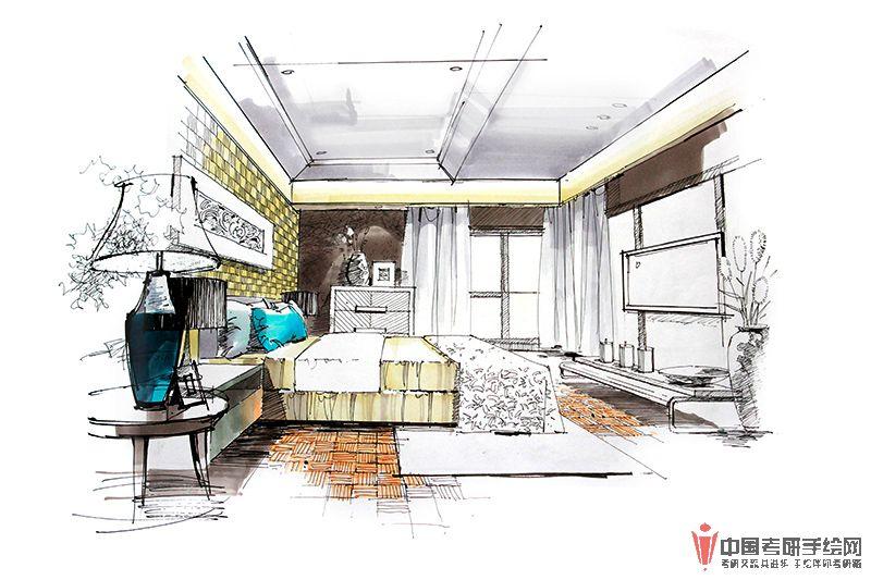 室内手绘马克笔表现步骤图