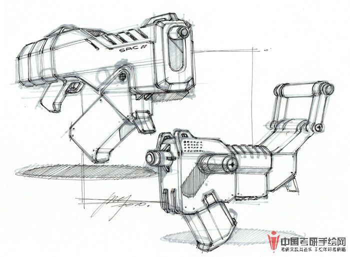 工业电子产品手绘效果图3