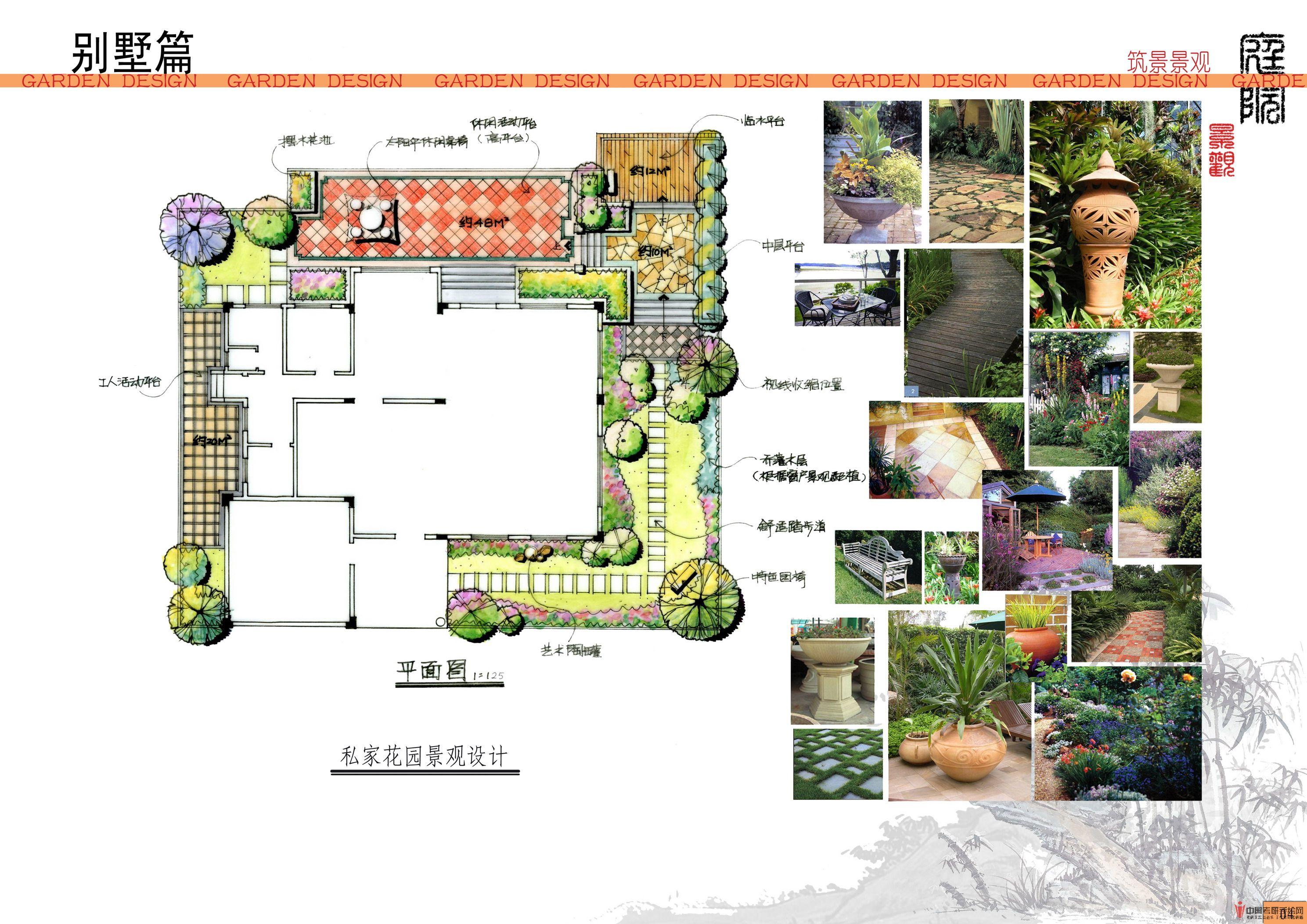 私家别墅庭院景观设计考研手绘快题 - 学习手绘zgkysh
