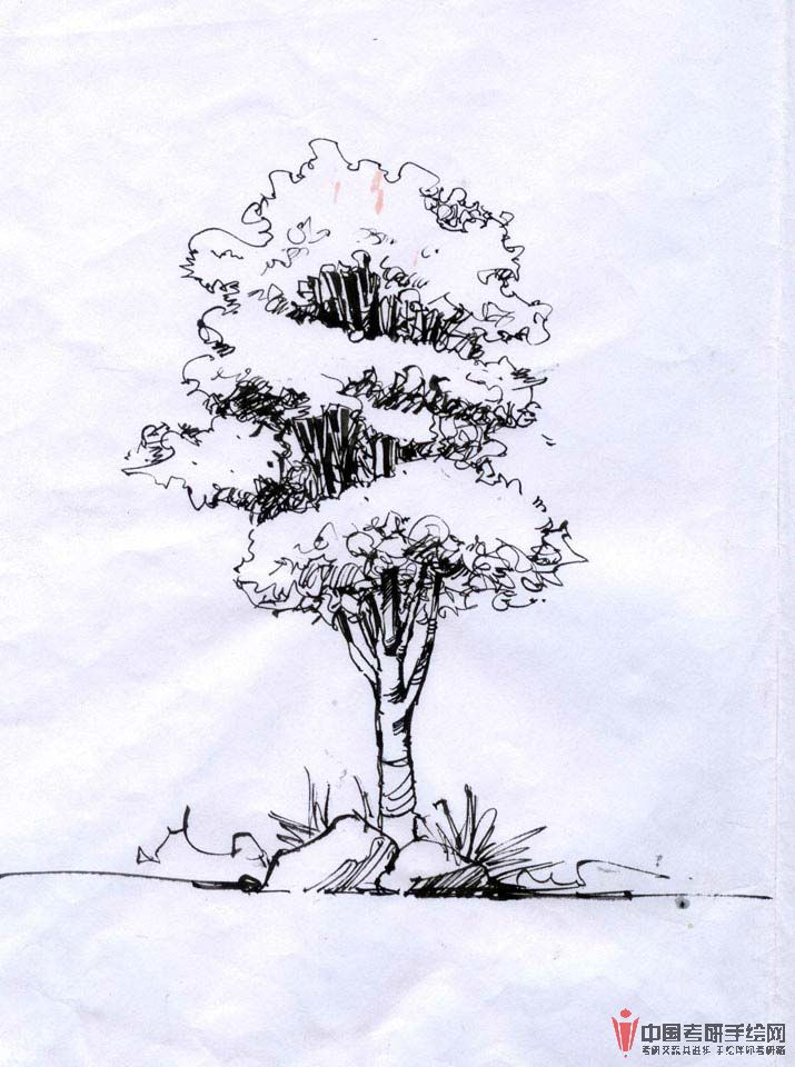 风景园林景观手绘线稿效果图表现2风景园林,效果图,手绘手
