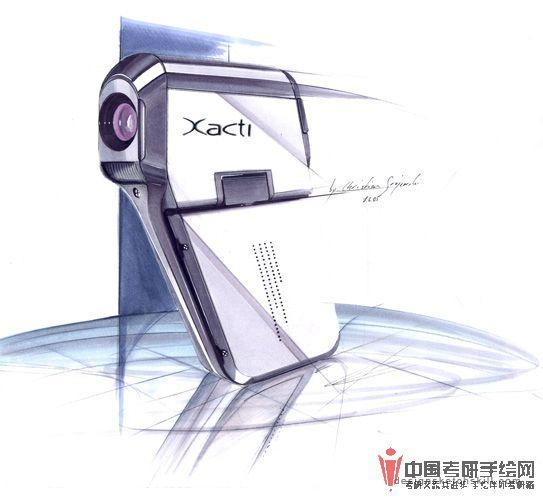 工业设计手绘手绘效果图中国考研手绘图片