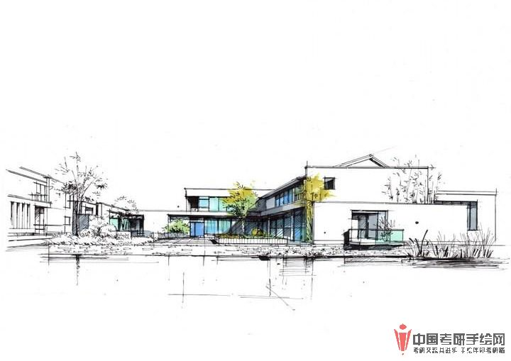 建筑手绘马克笔表现步骤图(二)