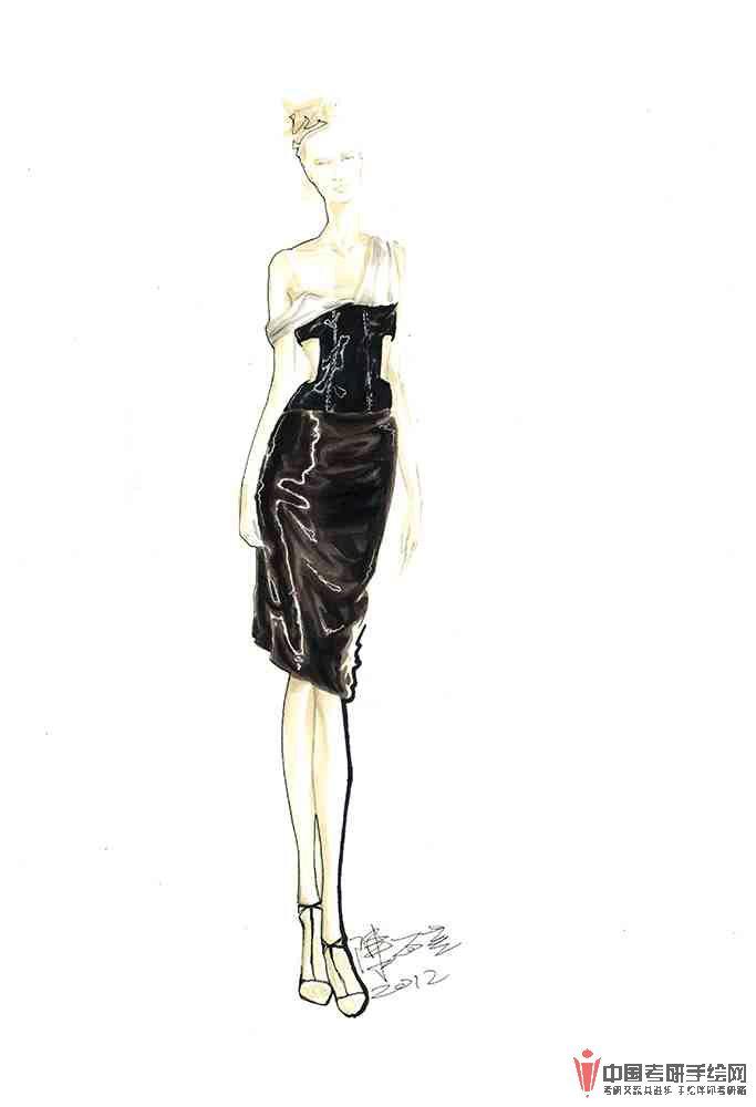 服装手绘系列 一 服装,手绘手绘效果图 学习手绘zgkysh.com