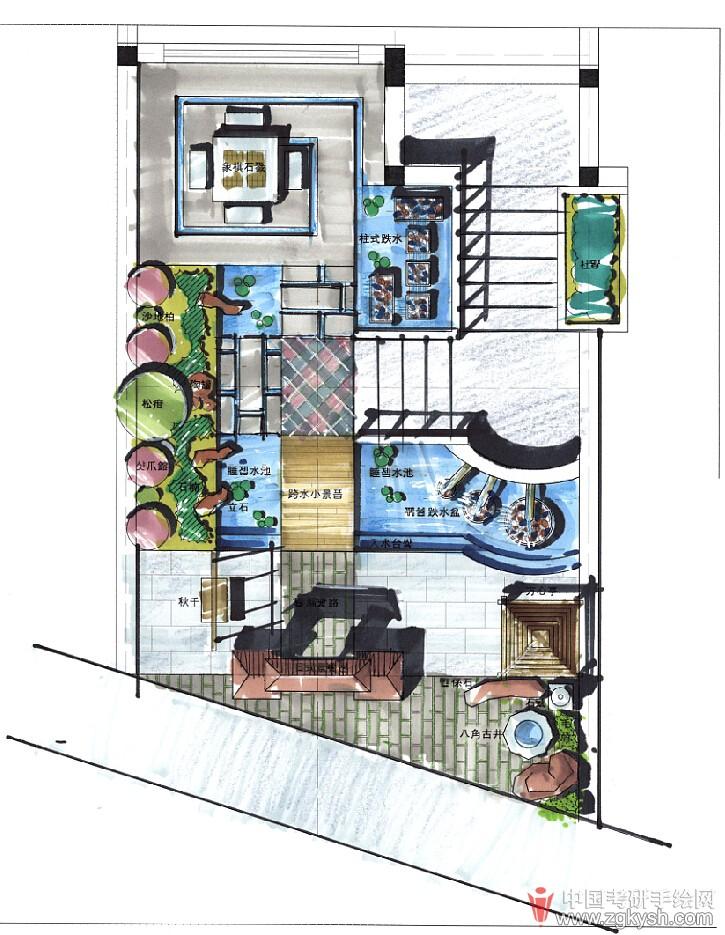 考研手绘网 69 手绘效果图 69 工业设计手绘 69 手绘在景观设计