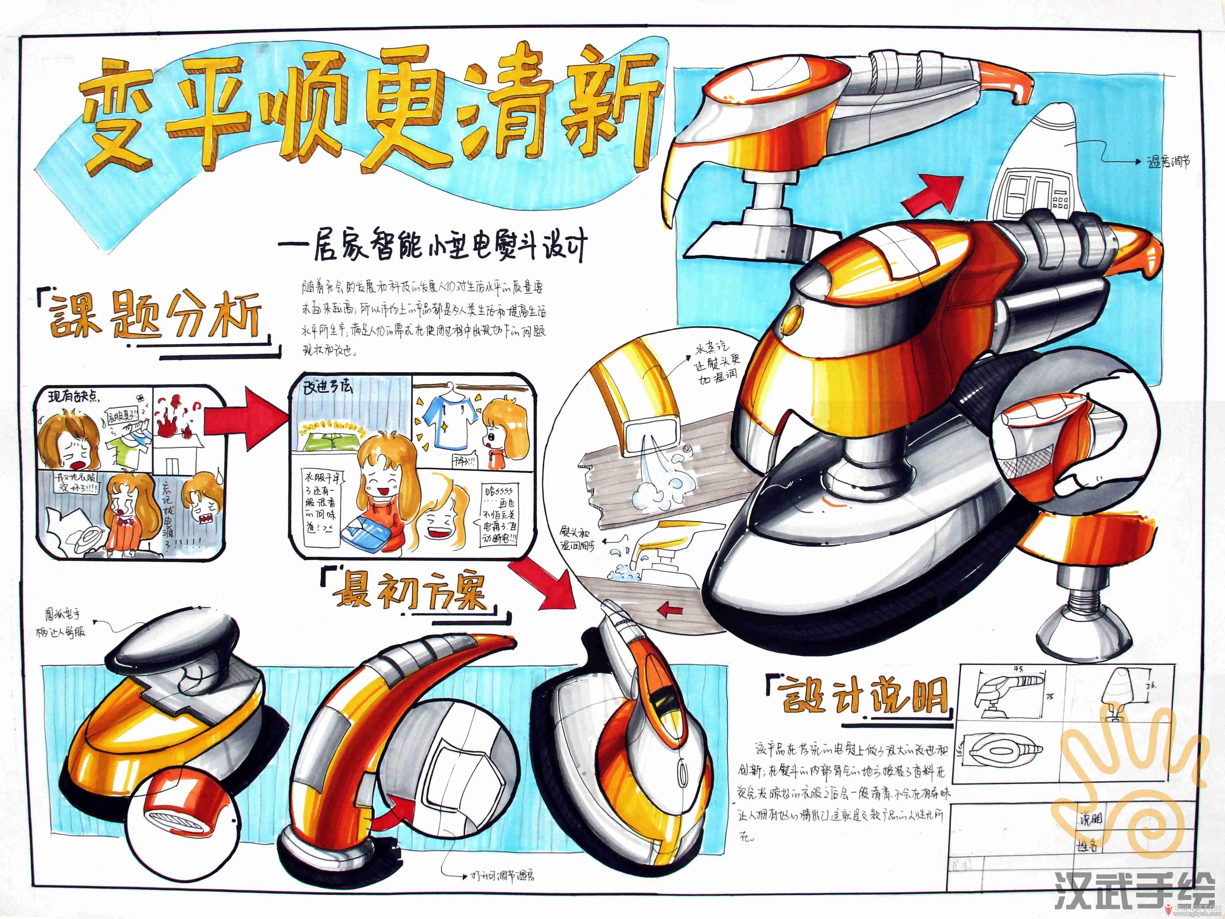 汉武手绘工业设计手绘快题优秀模板150张,大放送!