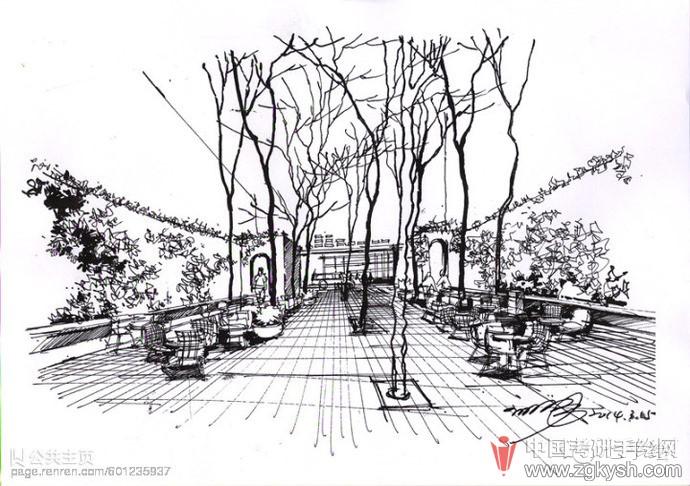 小学生风景简笔画公园