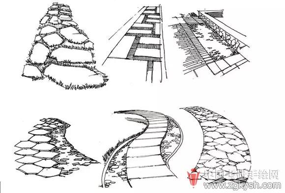 【七手绘小七课堂】每周学点手绘——景观小品,铺装,人物以及交通工具