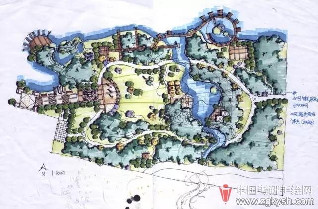 【七手绘】高分景观快题设计分析