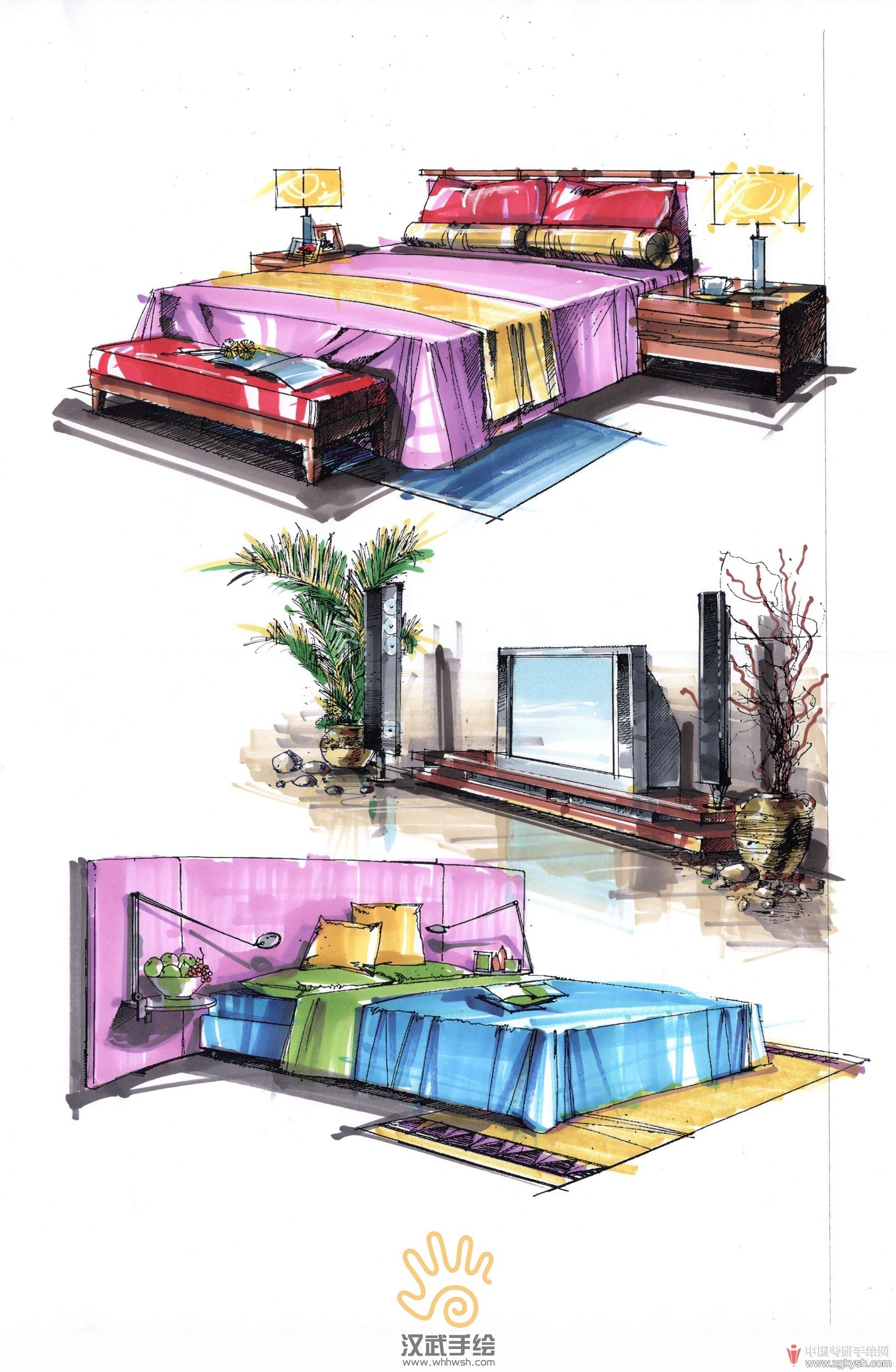 wang建筑景观室内手绘图
