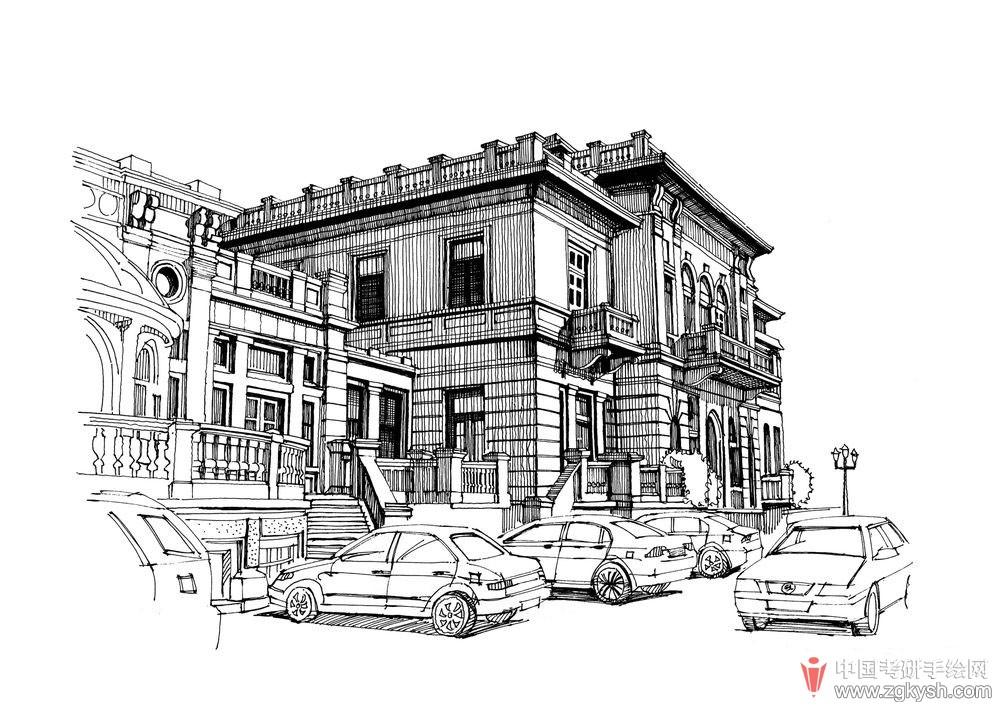 考研手绘网 69 手绘效果图 69 建筑手绘 69 钢笔手绘线稿优秀