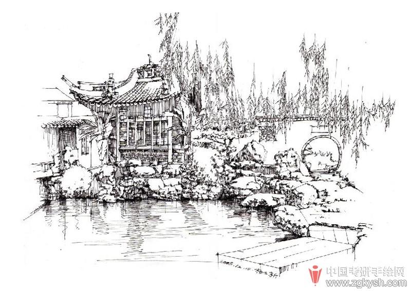 园林景观手绘图欣赏