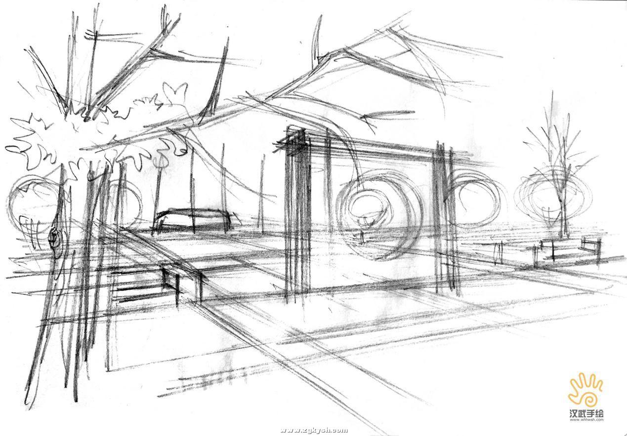 建筑景观马克笔上色步骤详解与案例——以学生训练稿为例 图片11.jpg