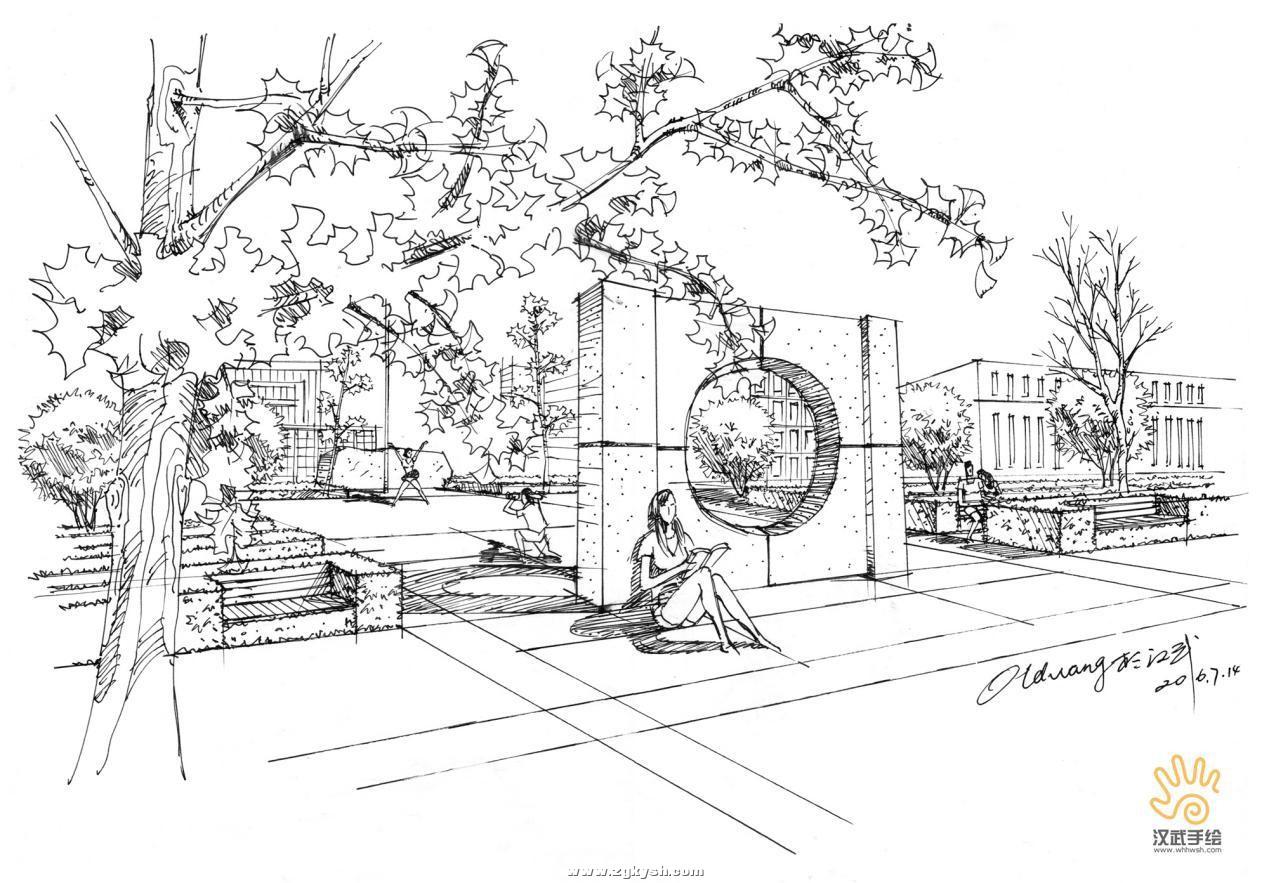 建筑景观马克笔上色步骤详解与案例——以学生训练稿为例 图片12.jpg