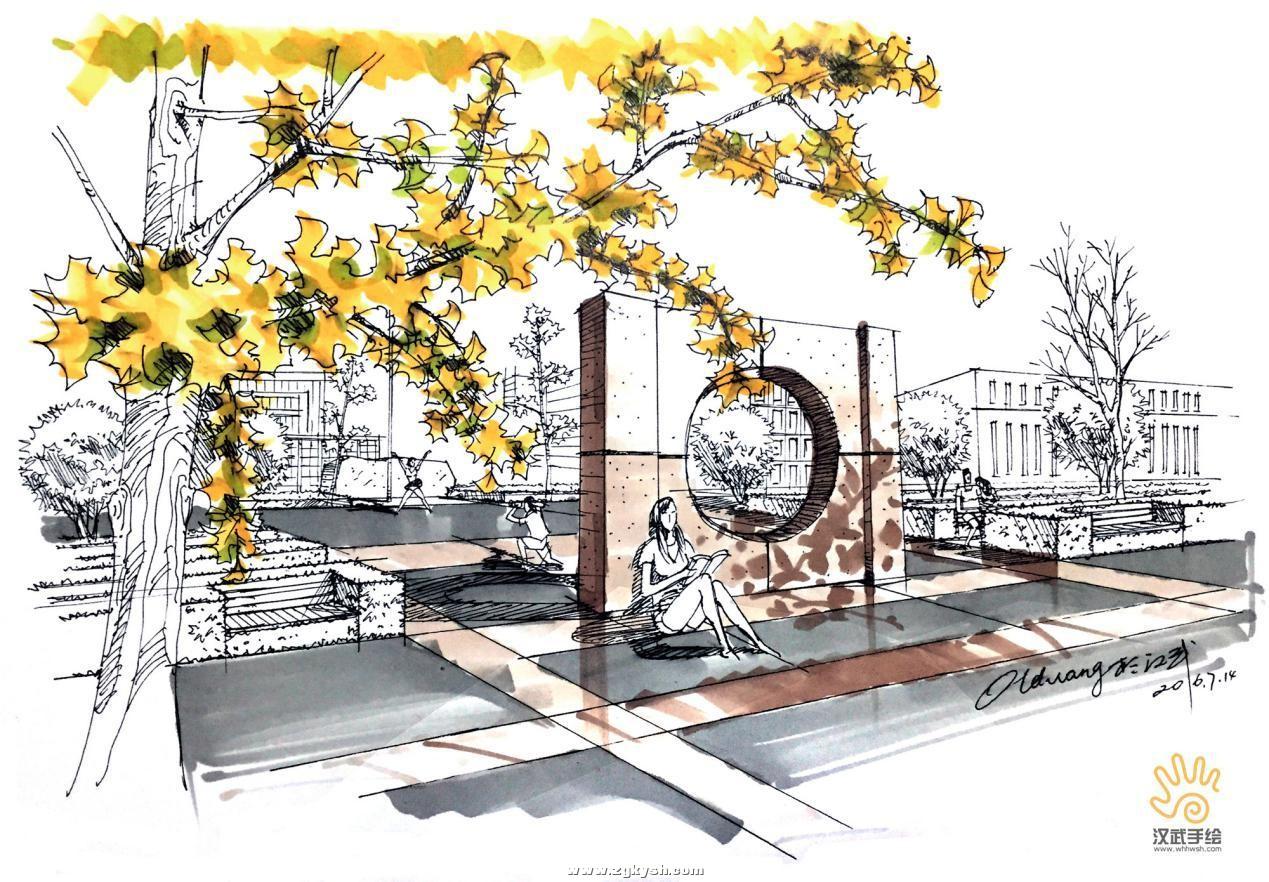建筑景观马克笔上色步骤详解与案例——以学生训练稿为例 图片13.jpg
