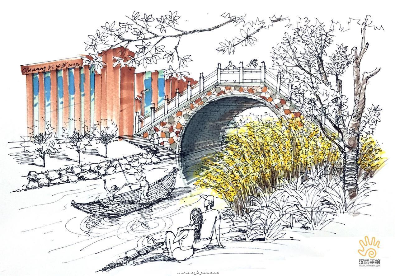 建筑景观马克笔上色步骤详解与案例——以学生训练稿为例 图片17.jpg