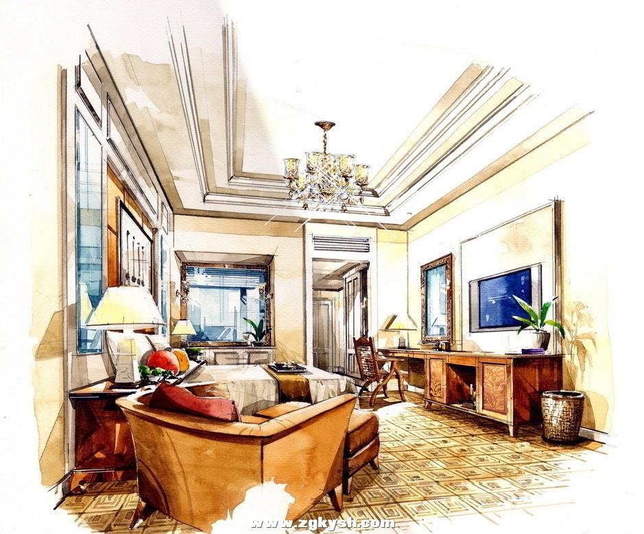 国外室内设计手绘效果图16 国外室内设计彩色手绘效果图10.jpg