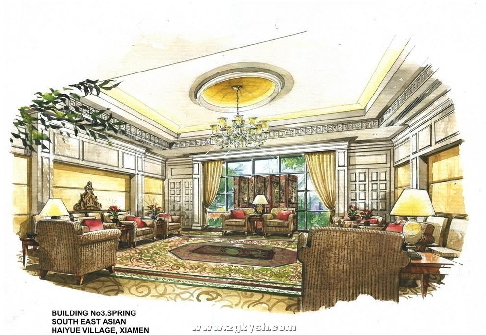 国外室内设计手绘效果图16 国外室内设计彩色手绘效果图13.jpg